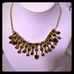 Charming Charlie Gold Holiday Necklace- Collarbone